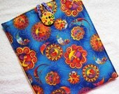 Laurel Burch Sun and Moon Celestial Handmade Padded iPad Holder Pouch Sleeve