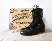 antique black victorian boots / vintage 1900s black leather lace up boots. - RustBeltThreads