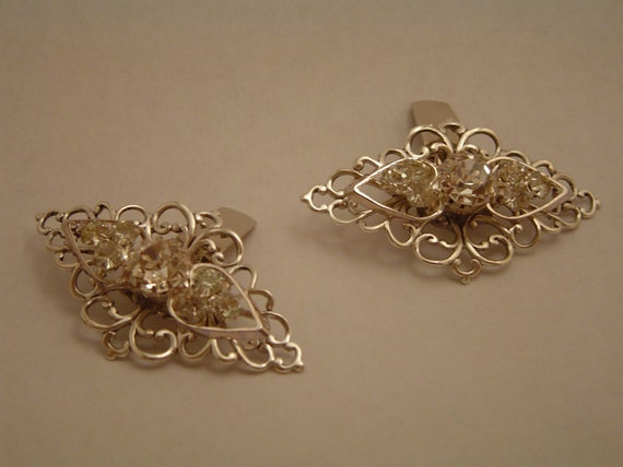 Swarovski rhinestone bridal shoe clips