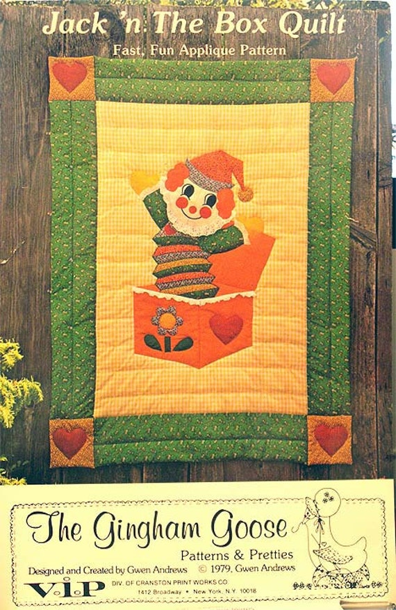 Jack N The Box Baby Quilt Pattern 1979 The Gingham Goose