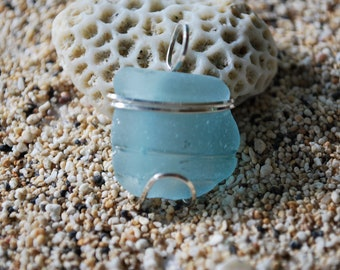 Just the Tops - Sea glass pendant