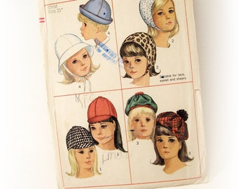 Simplicity 6274 Pattern for children - Sets of hats - Vintage sewing pattern