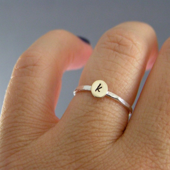 Custom Initial Ring, Sterling Silver, Brass, Or Copper, Choice Of 1 Personalized Ring