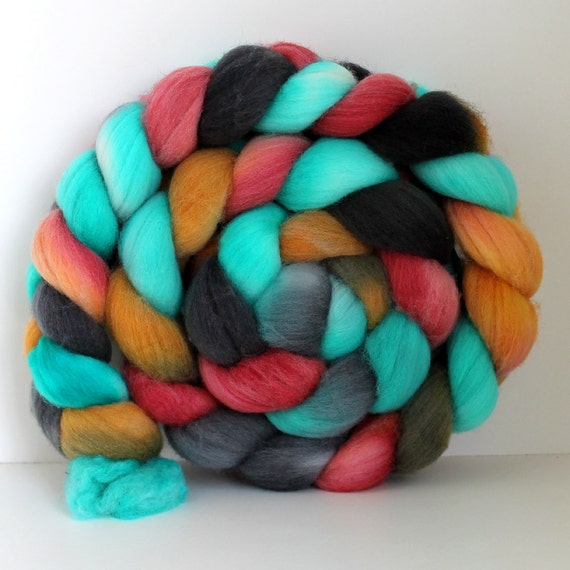 COOK OUT-  Merino Wool Top Roving 4.4 oz
