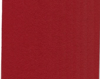 Pure Wool Felt Sheet - Red - Various Sizes