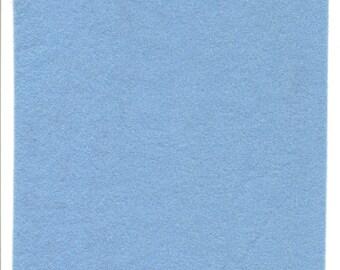Pure Wool Felt Sheet - Light Blue - Various Sizes