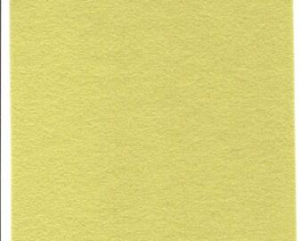 Pure Wool Felt Sheet - Yellow-green - Various Sizes