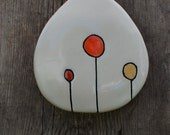 Clay Stoneware Wall Hanging Home Decor in Dots // warm colors, fall colors // Wall Art // Wall Box