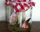 SALE 30% OFF Freshly caught miniature fairy in jam jar, paper weight