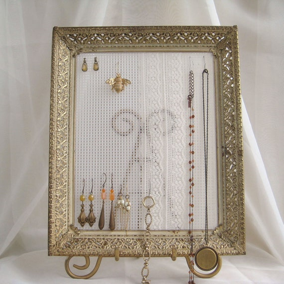 earring holder jewelry organizer display repurposed by