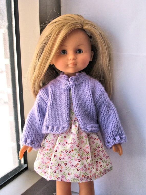 Corolle Les Cheries Doll Dress and Hand Knit Cardigan
