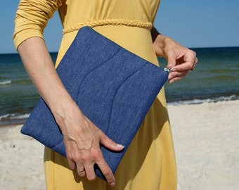 Apple iPad Sleeve Case/ Cover/ padded/ denim