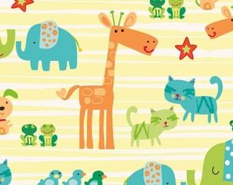 Best Friends Multi Animals Main Print by Becky Taunton Newcastle Fabrics  - 1 Yard