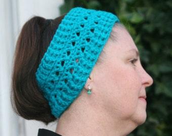 CROCHET PATTERN - Cross Stitch Ear Warmer / Headband ---  (Matches The Cross Stitch Boot Cuff Pattern)