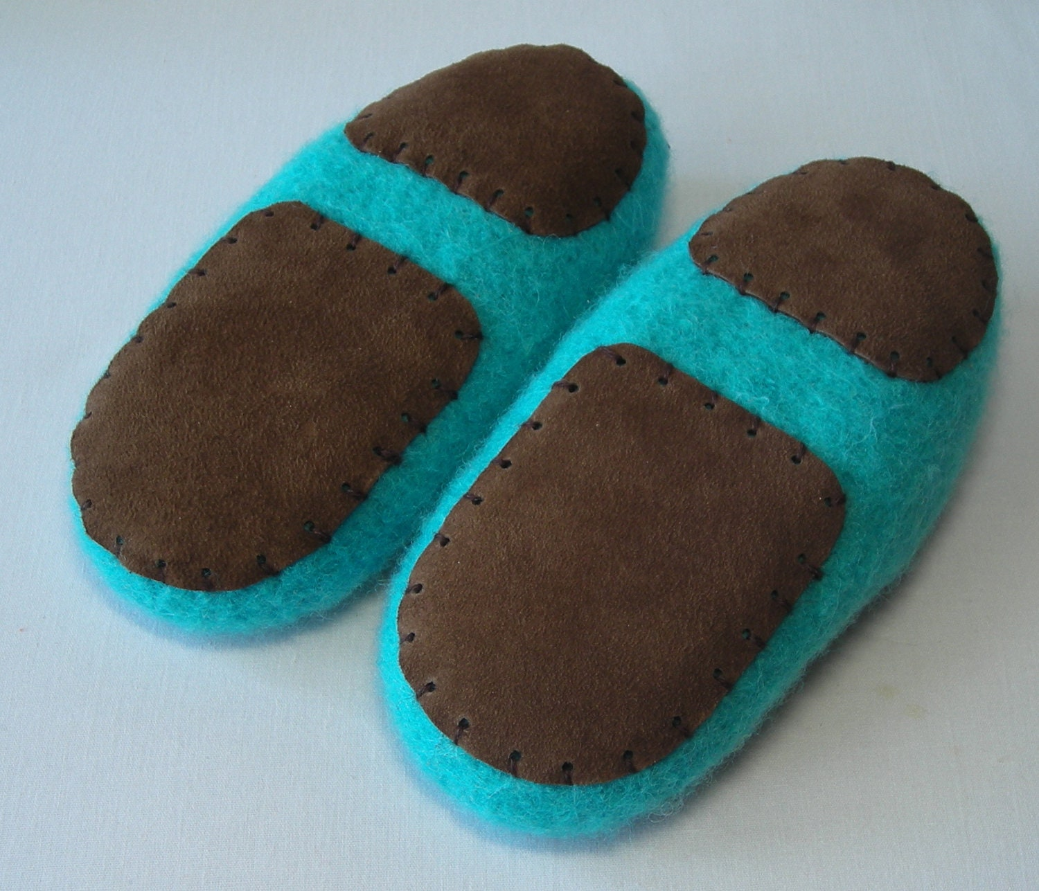 Knitting Pattern For Slippers With Soles : Childrens Slipper Soles non-slip suede leather soles