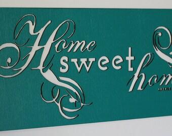 Home Sweet Home wall art modern sampler