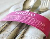 Custom Colored Menu Napkin Wrap
