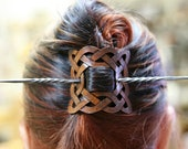 Twisted Steel Hair Pin, Stick, SCA LARP