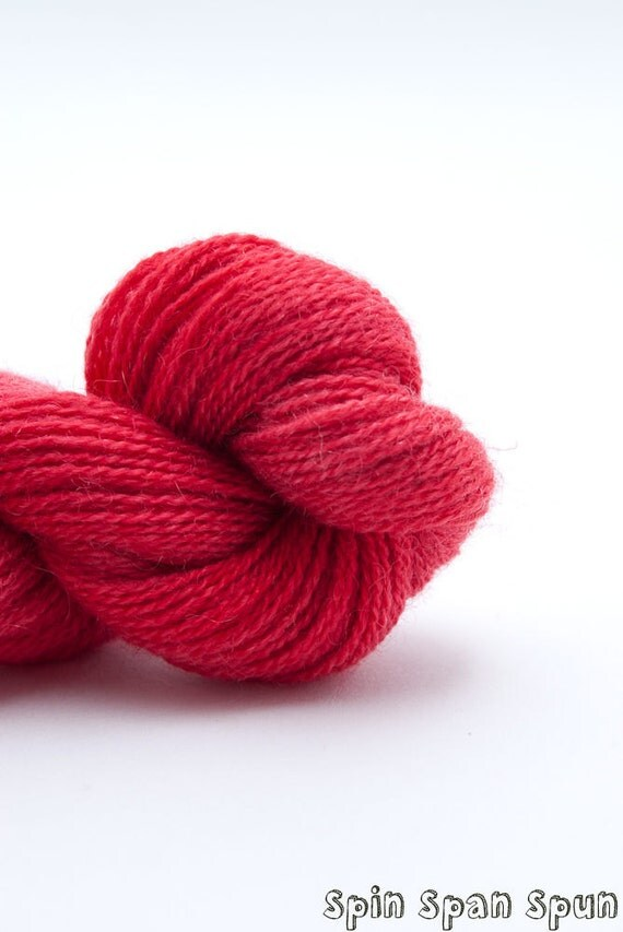 Addiction Red, Extra Fine Lace weight,  Fine wool & Cashmere, 220 yards