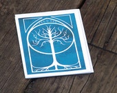 The White Tree A2 Blank Tolkien Greeting Card