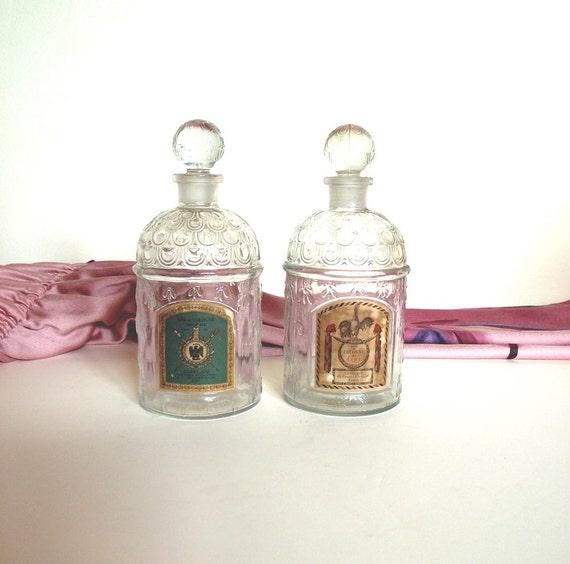 Guerlain Bumblebee Eau de Cologne Imperiale Bottle. Eau du Cologne du Coq. Vintage Guerlain Perfume Bottles