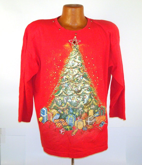 Ugly Christmas Sweater Vintage Puffy Paint by ...