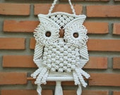 White Owl and its Nest- Macrame wall hung