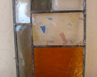 Antique Amber and Grey Mini Panel