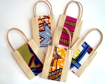 50 Wedding favour, party bag, small gift bag, african wax print