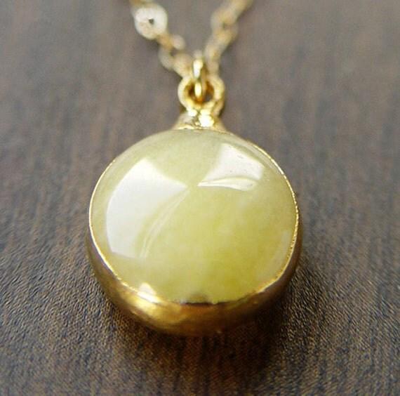 Lemon Opal Gold Necklace