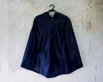 Blue Raincoat Vintage Inspired Waterproof Cape