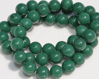 1 Strand Mountain Jade 10mm Round Beads  BD852
