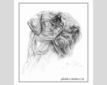 Cesky Terrier Fine Art Note Cards - set of Eight