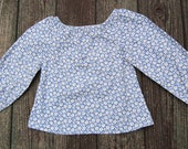 Girls long sleeve flowered peasant top Size 6