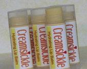 CREAMSICKLE LIP BALM - vanilla and orange flavored hydrating balm