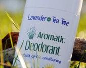 Deodorant Lavender Tea Tree, antibacterial, non irritating, all natural deodorant