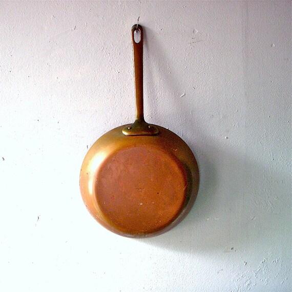 copper frying pan bazar francais 666 new york vintage. Black Bedroom Furniture Sets. Home Design Ideas