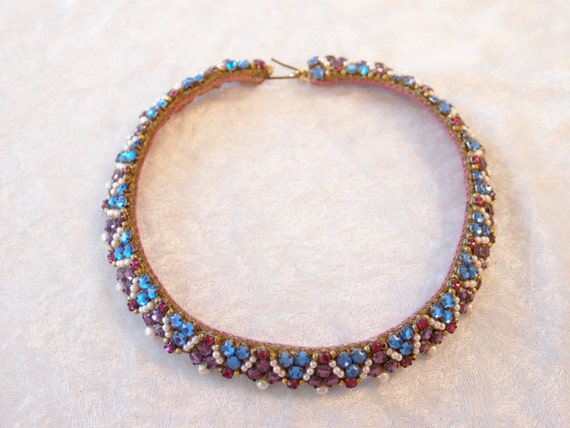 RESERVED for Samuel Vintage 1950s Leni Kuborn-Grothe Kitzbuhel Rhinestone Choker in Mint Condition, Vendome collar and collar from Japan