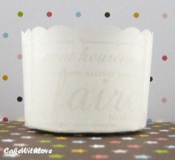 Elegant Pure White Muffin Cups
