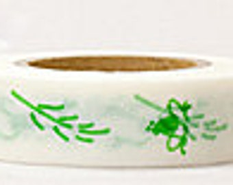 Japanese Washi Masking Tape - Green Frogs - Yamada