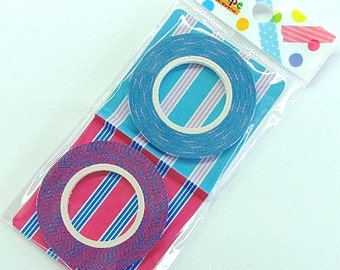 Funtape Masking Tape - Pyjama Stripes - Slim Set 2