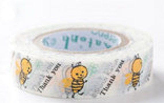 SALE - Shinzi Katoh Masking Tape - Bee Thank You - Discontinued - 25% off