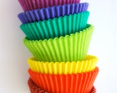 Rainbow Stack of solid Color Cupcake Liners (80)