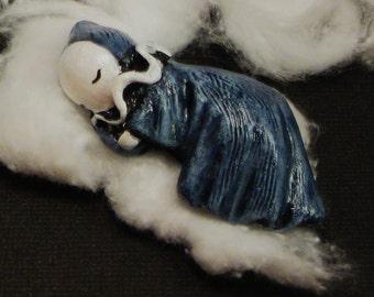 Blue Good Night Poppet - Sleeping Poppet by Lisa Snellings