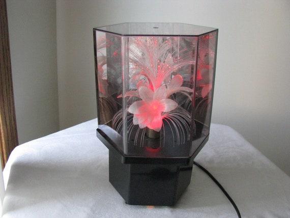 Vintage Fiber Optic Lamp Light Color Changing Flowers and | 570 x 427 jpeg 24kB