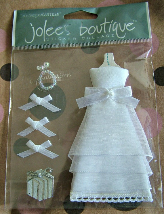Jolees Wedding Dress Scrapbooking Sticker Collage