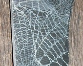 Halloween REAL  Spider Web Imprints