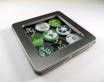 Reduce, Reuse, Recyle Magnets - 2 / Refrigerator Magnets / Locker Magnets / Ready for Gift Giving