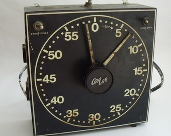 Vintage 1950's GRA-LAB Darkroom Timer 8.5 in. x 8.5 in. x 3 in.