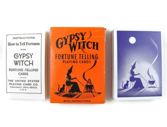 Cauldron Cards - Vintage Gypsy Witch Fortune Telling Tarot Cards, Complete Playing Card Deck with Instructions & Extra Cards, Like New